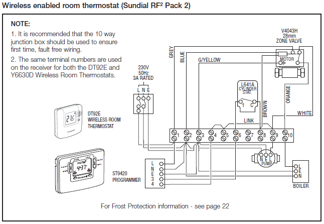 Honeywell Sundial C Plan 3 28 [ underfloor heating wiring centre diagram ] underfloor sunvic motorised valve wiring diagrams at couponss.co