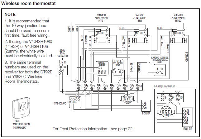 y plan wiring diagram with frost stat wiring diagram