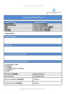 Everyday Business Forms - Customer Complaint Form Alternative TN