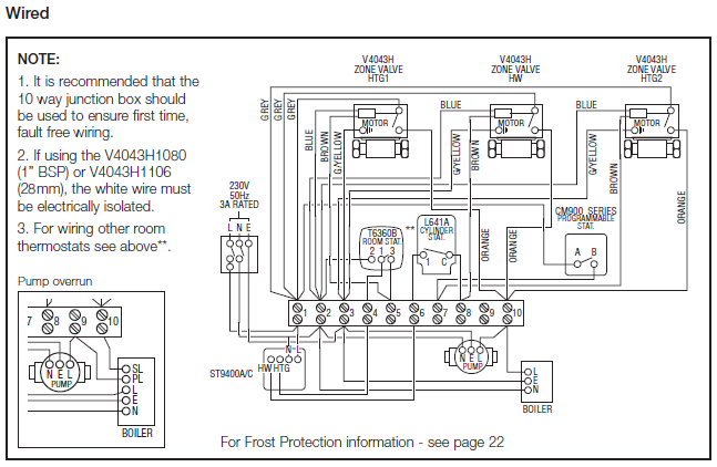 Honeywell Central Heating Wiring Diagram : Central heating wiring diagrams honeywell sundial s plan