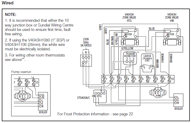 Honeywell Sundial S Plan iet forums central heating wired wrong central heating wiring diagram 3-way valve at soozxer.org