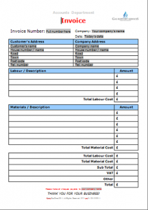 Everyday Business Forms - Invoice for Works Carried Out TN