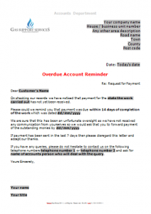 Everyday Business Forms - Overdue Account Letter - Gentle Reminder TN