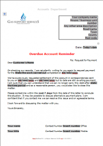 Everyday Business Forms - Overdue Account Letter - Strong Reminder TN