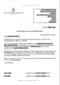 Everyday Business Forms - Overdue Account - Pass to Debt Collector TN