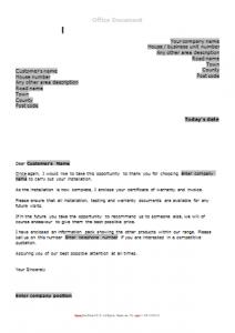 Gas Survey Forms - Post Boiler Installation Letter TN