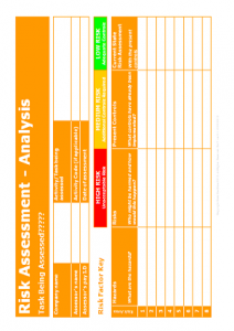 Gas Risk Assessment Templates - Risk Assessment Template TN