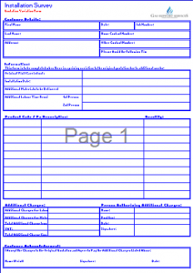 Gas Survey Forms - Variation to Original Survey Form TN